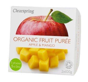 Õuna-mangopüree Clearspring, 2x100g