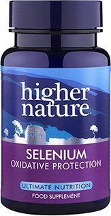 Selenium seleen 200μg Higher Nature,  60 tbl