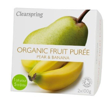 Pirni-banaanipüree Clearspring, 2x100g