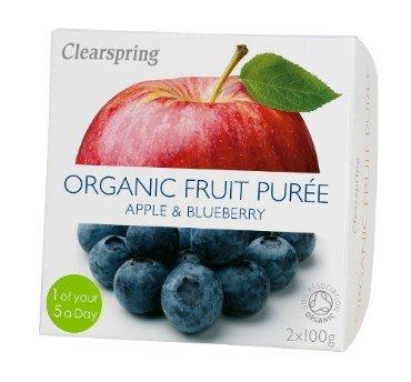 Õuna-mustikapüree Clearspring, 2x100g