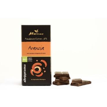 Tume šokolaad apelsiniga Altromercato, 100g