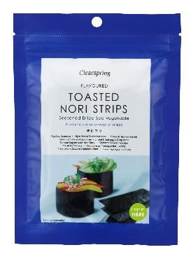 Maitsestatud ja röstitud nori ribad Clearspring, 13,5g (10x5tk) tavatoode