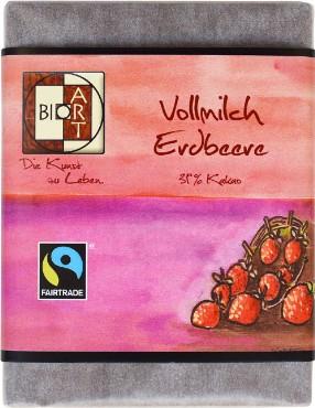 Piimashokolaad maasikaga BioArt, 70g
