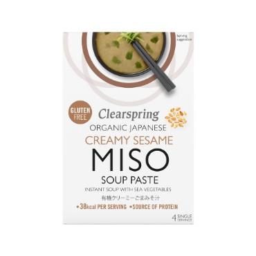 Valge miso supipasta kreemise seesami ja vetikatega Clearspring, 4x15g
